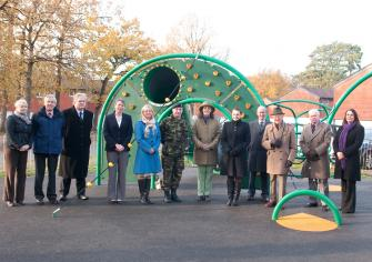 The opening ceremony for refurbished children\'s play park in Sandhust (Nov 2010)